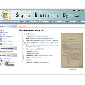 Kronika w zbiorach Śląskiej Biblioteki Cyfrowej