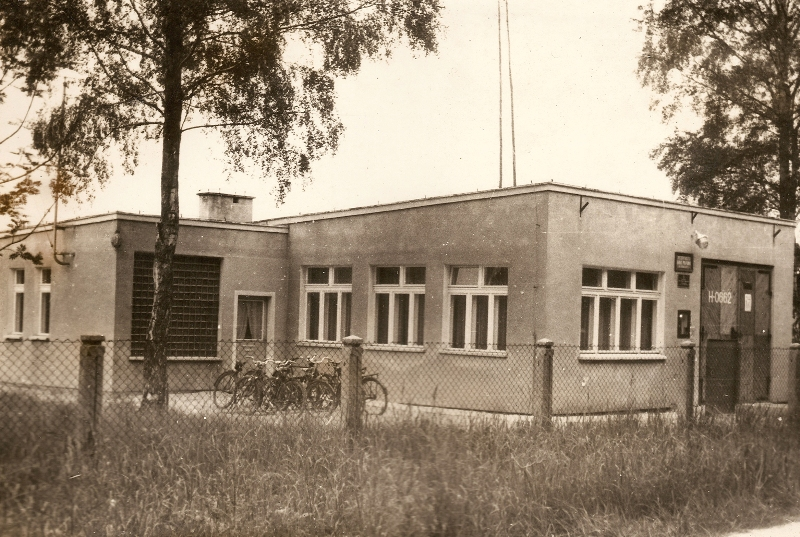 Budynek remizy (lata 70.) [Archiwum OSP, kronika]
