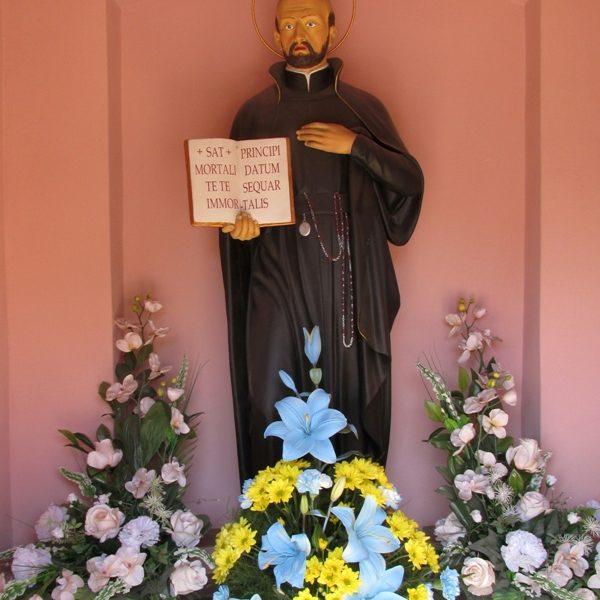 Figura św. Franciszka Borgiasza po renowacji, czerwiec 2015 r.