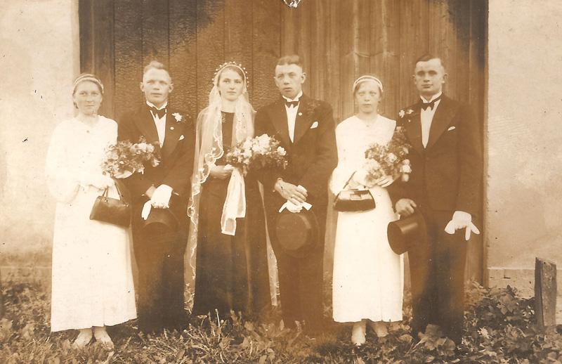 Wesele: Heinrich Joseph i Gertrud Pietruschka. [Zbiory prywatne: rodzina Józef, Zielina]