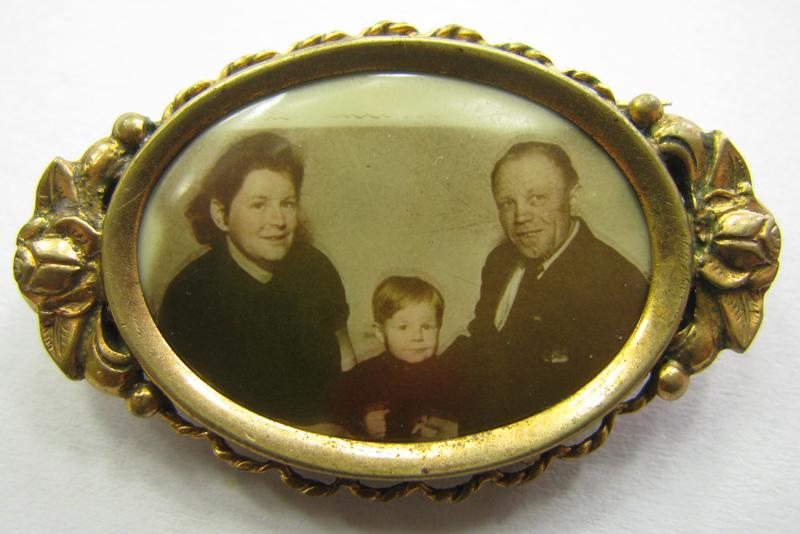 Alfred ze swoją żoną Anną i jej synem Johannem [Zbiory prywatne autora strony]
