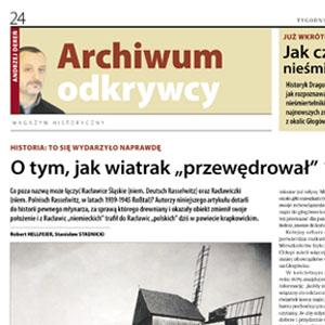 Historia wiatraka z Racławiczek