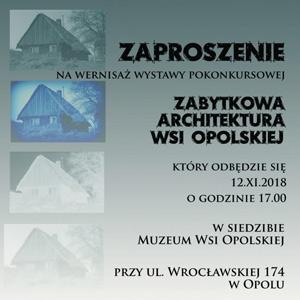 Zabytkowa architektura wsi opolskiej 2018